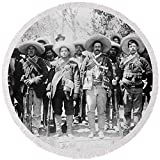 Pixels Round Beach Towel With Tassels featuring ''Francisco Pancho Villa'' by Pixels