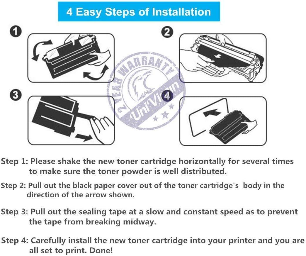 4-Pack, BCMY UniVirgin Compatible Toner Cartridge Replacement for Canon CRG-046 CRG046 046 Toner Cartridge fits for Canon Color LaserJet MF733Cdw MF731Cdw MF735Cdw Printer