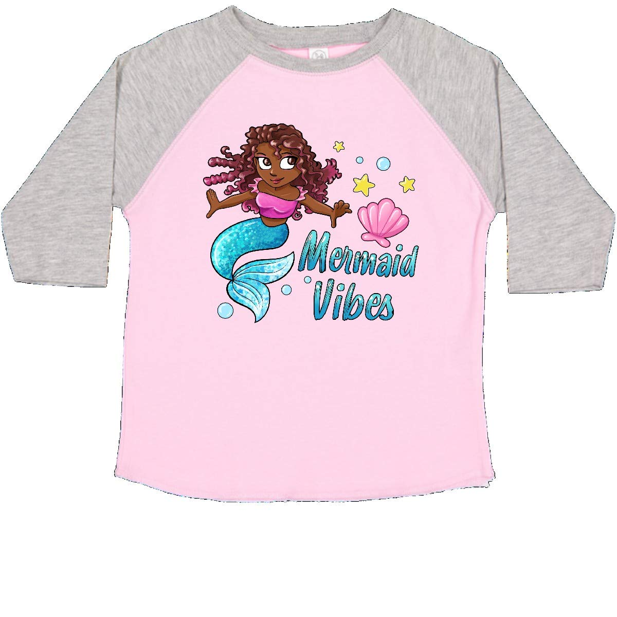 Cute Mermaid with Blue Tail Toddler T-Shirt inktastic Mermaid Vibes