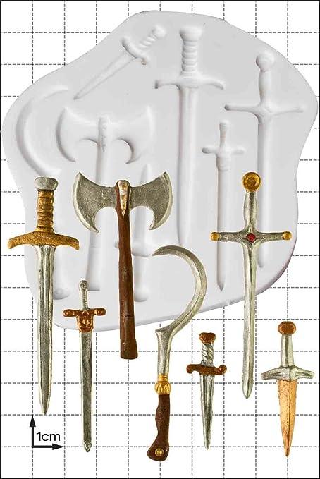 Espadas y armas molde de silicona: Amazon.es: Hogar
