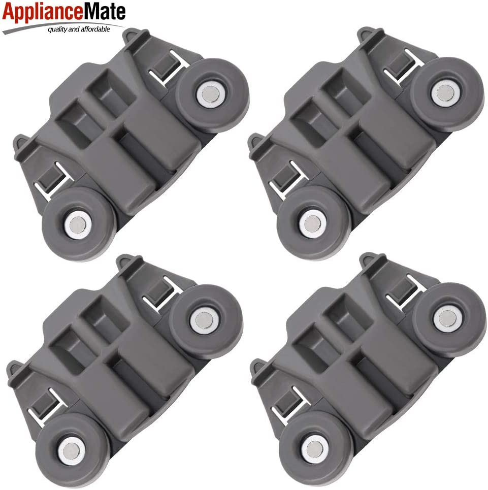 Pack of 4 W10195417 Upgraded Dishwasher Wheels Lower Rack for Kenmore Kitchenaid Jennair Kitchen aid Dishwasher Lower Dish Rack Model 665 KDTE104ESS1 KDTE204DSS0 - Replaces WPW10195417 AP4538395