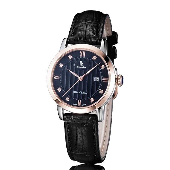 Relojes de cuarzo/Reloj clásico/Mesa mujer impermeable/ moda alumnas watch-E: Amazon.es: Relojes