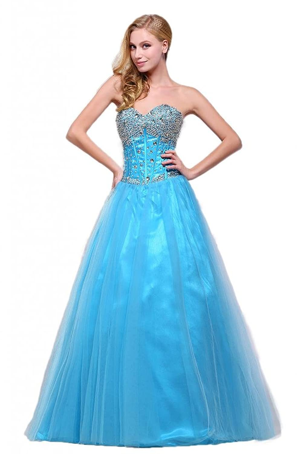 Amazon.com: Efashion Women\'s Prom Ball Gown Quinceanera Dress H3519 ...