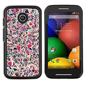TECHCASE---Cubierta de la caja de protección para la piel dura ** Motorola Moto E ( 1st Generation ) ** --Azulejos de piedra rosa Patrón de mármol