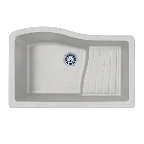 Swanstone QUAD-3322.077 33-Inch by 22-Inch Undermount Ascend Bowl ...