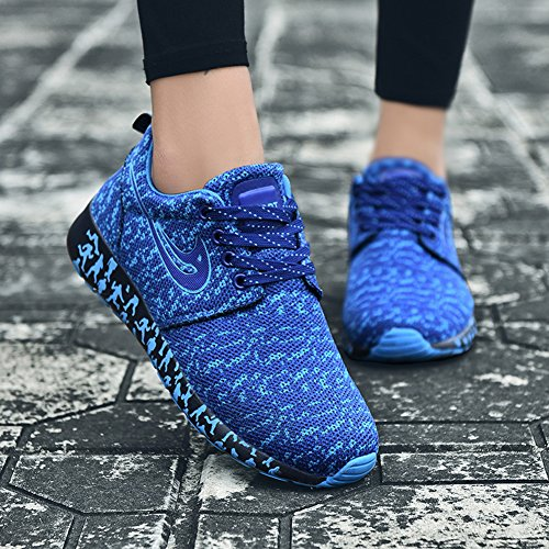 Women amp;LV Sport Breathable Sneakers LIN Casual Lightweight Shoes Fashion Blue Athletic Cool S5apnxqw6d