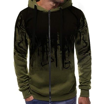 f42d96aaa Black Sweatshirt Man Festiday 2018 Casual Men's Exercise & Fitness Sweatshirts  Men Zipper Gradient Color Pullover Long Sleeve Hooded Sweatshirt Tops Blouse