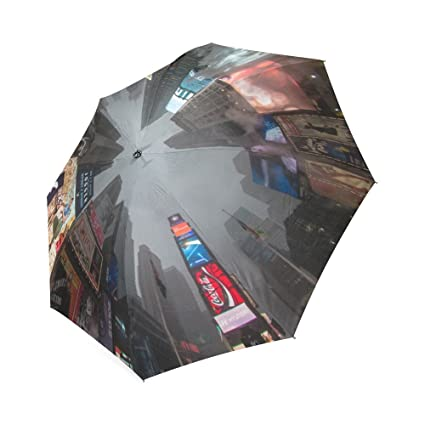 Times Square New York Usa A View From Below Foldable Umbrella 8 Ribs