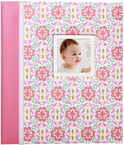 Carter's Pink Pattern My First Years Loose Leaf Memory Book for Baby Girls, 10