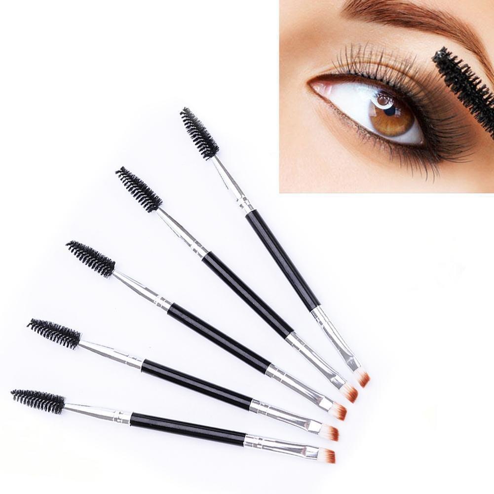 Gracefulvara 5 Pcs Dual-ended Eyebrow Brush Makeup Tool