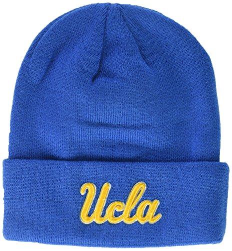 Team Colors Knit Beanie (NCAA UCLA Bruins Adult Men Cuff Knit Beanie, Adjustable, Team Color)