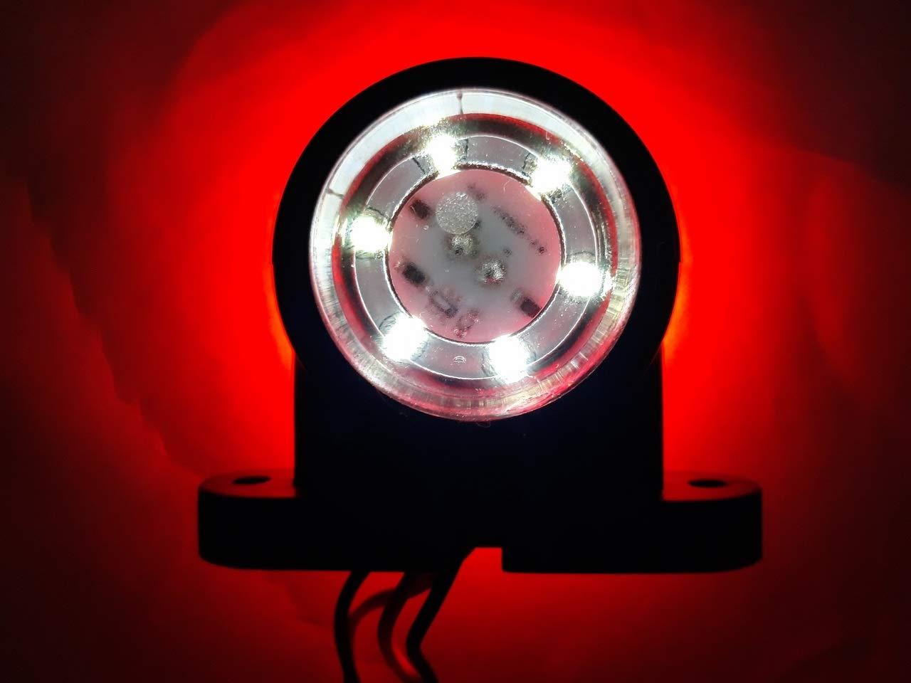 24V rouge//blanc sallume ch/âssis de camion remorque de camping-car VNVIS 4 x petits feux de position lat/éraux LED 12