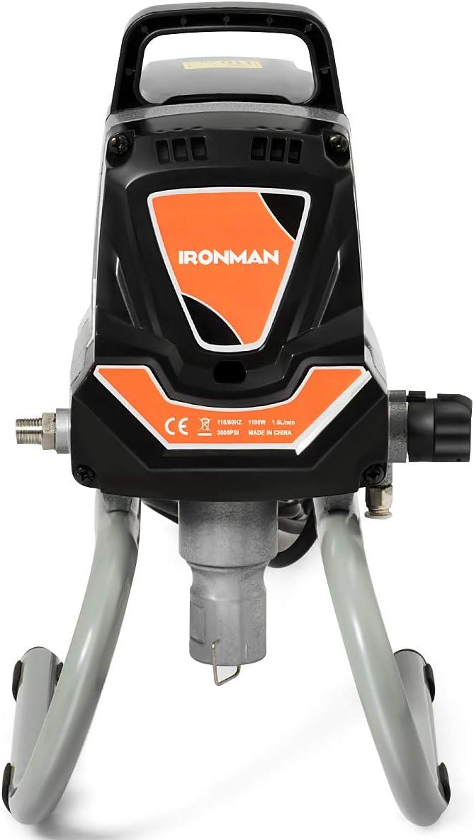 COSTWAY Sistema de Pulverizaci/ón de Pintura de Alta Presi/ón 1000W Pulverizador de Pintura Sin Aire 1,5 L//min,207 bar,230V para Trabajo Profesional DIY