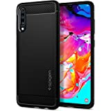 Spigen 620CS26386 Rugged Armor Compatible for Samsung Galaxy A70 Case Cover, Black