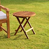 Kingfisher Folding Teak Side Table Outdoor Garden Furniture