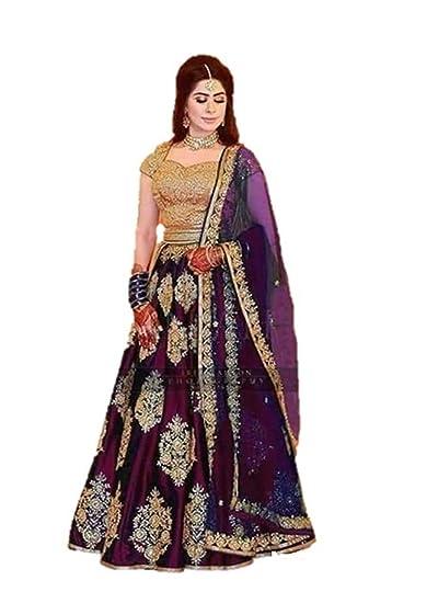 f2c1b7758f Shree Radhe Enterprise Women's Synthetic Fancy Ghagra Choli (Purple, Free  Size): Amazon.in: Clothing & Accessories