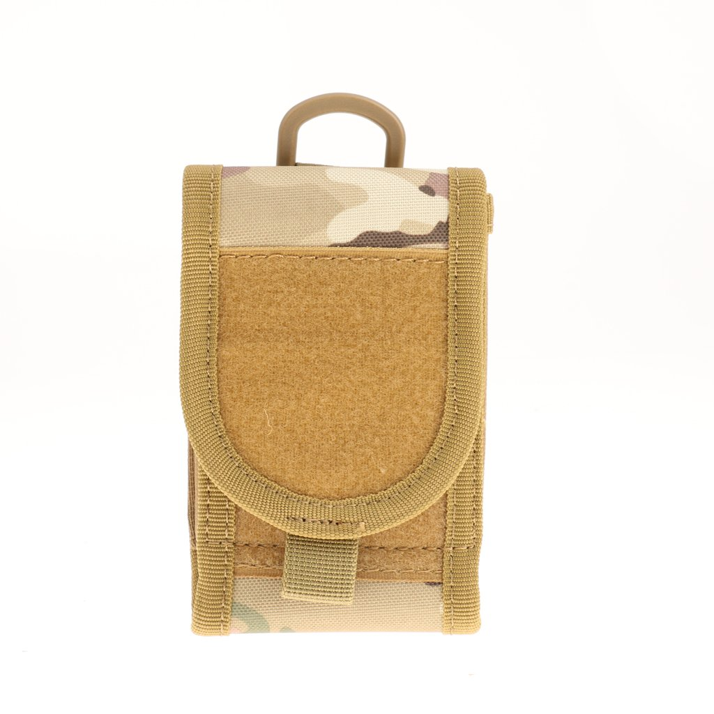 Military Molle Pouch Belt Waist Fanny Pack Phone Pocket Tan