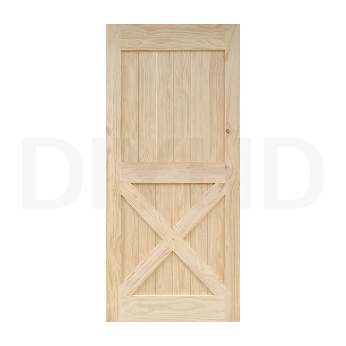 Elegant 38 In84 In Pine Knotty Sliding Barn Wood Door Slab Two Side X Shape Barn