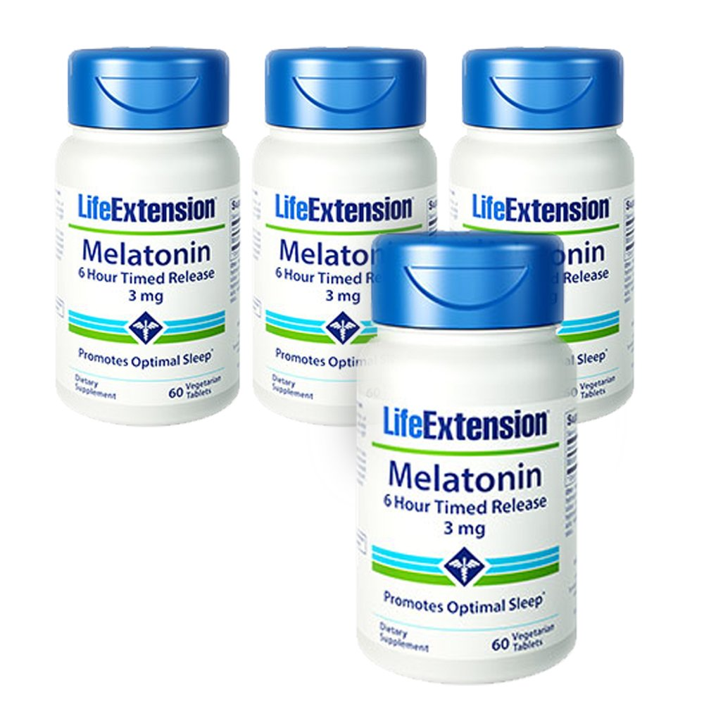 Amazon.com : Life Extension Melatonin 6 Hour Timed Release 3mg 60 ...