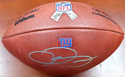 Odell Beckham Jr. Signed New York Giants Official NFL Leather Football With Military Logo - Certified Genuine Autograph By Beckett from ItsAlreadySigned4U
