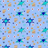 Israel Fabric Coordinating Matzo Fabric For The Jewish Holidays by Amy G Printed on Basic Cotton Ultra Fabric by the Yard by Spoonflower