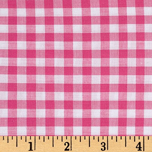 Richland Textiles Richcheck 60in Gingham Check 1/4in Fuchsia Fabric by The Yard