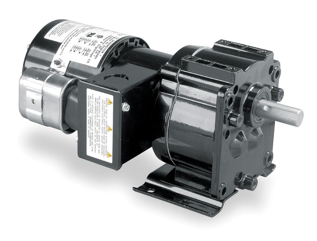 Dayton 4Z519 AC Parallel Shaft Psc Gear Motor, Degrees_Fahrenheit, to Volts, Amps, (