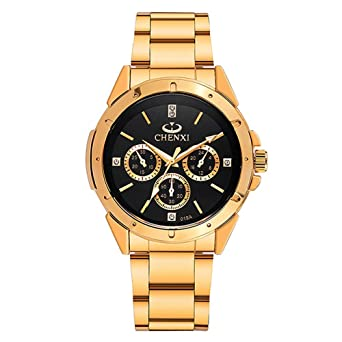 853562b7e88 Amazon.com  Gold Men s Luxury Wrist Watches for Man