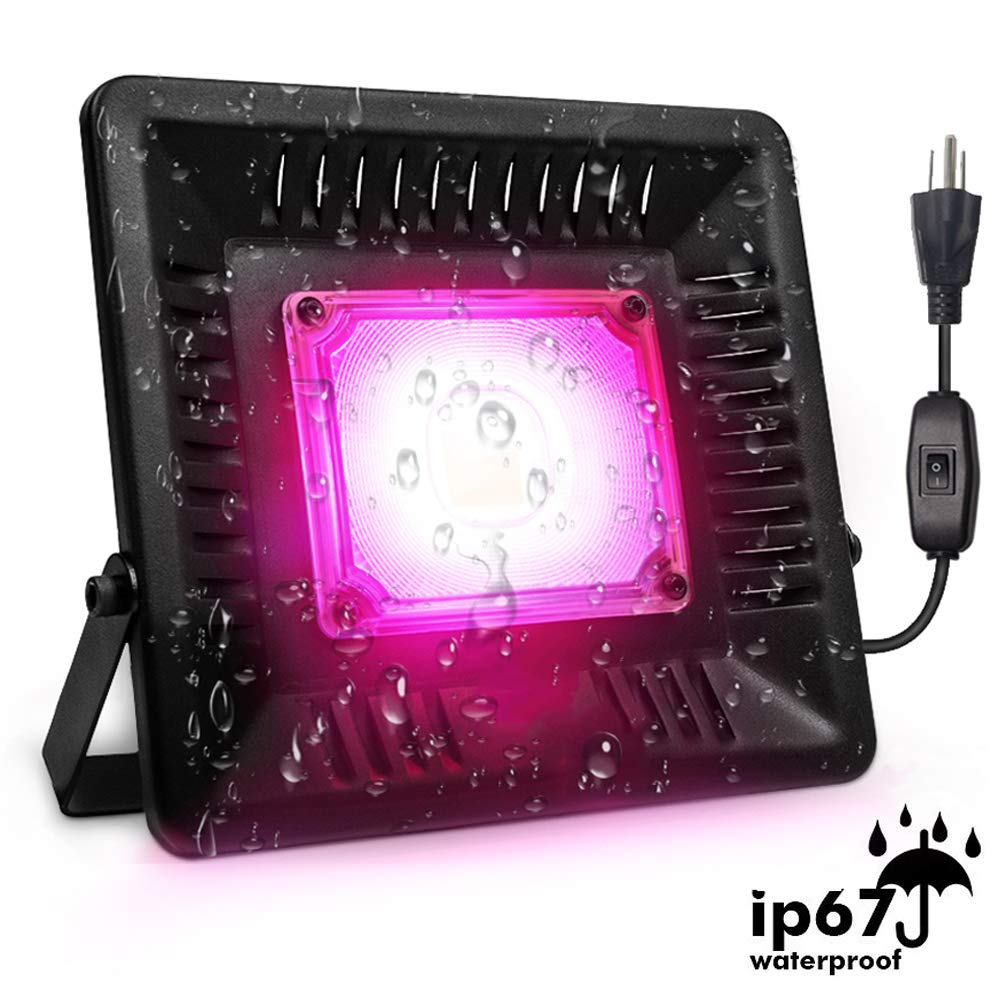 COB LED Grow Light 150w Full Spectrum Waterproof Outdoor Plant Lights Grow Lights for Indoor Plants,Veg, Seedling Natural Heat Dissipation Without Noise for Plants Tent, Greenhouse, Garden, Hydroponic