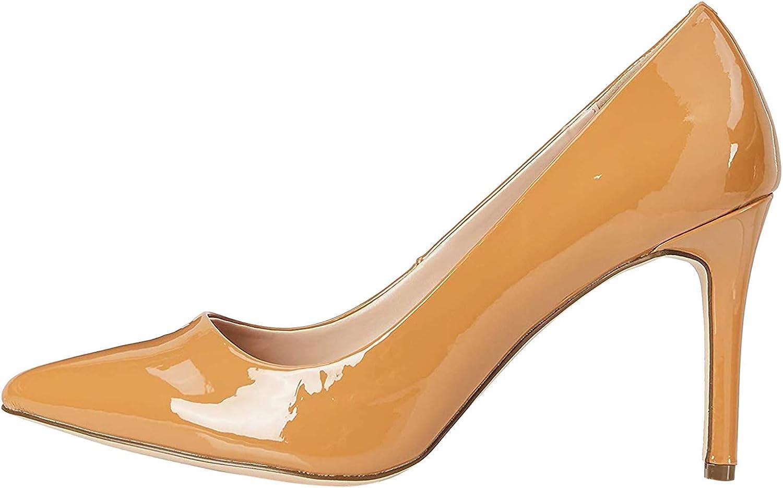 Marca Amazon - find. Dubai-s-254 - Zapatos de tacón con punta cerrada Mujer