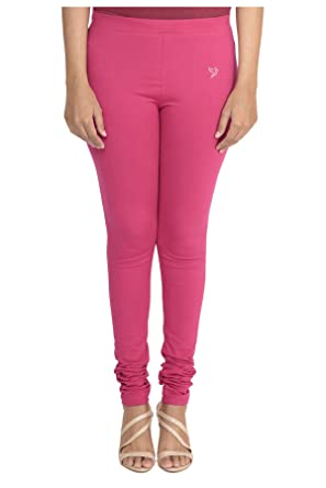 cd004a0deb4e4 South India SHOPPING MALL - TwinBirds Bubble Gum Cotton Lycra Women  Leggings Pink