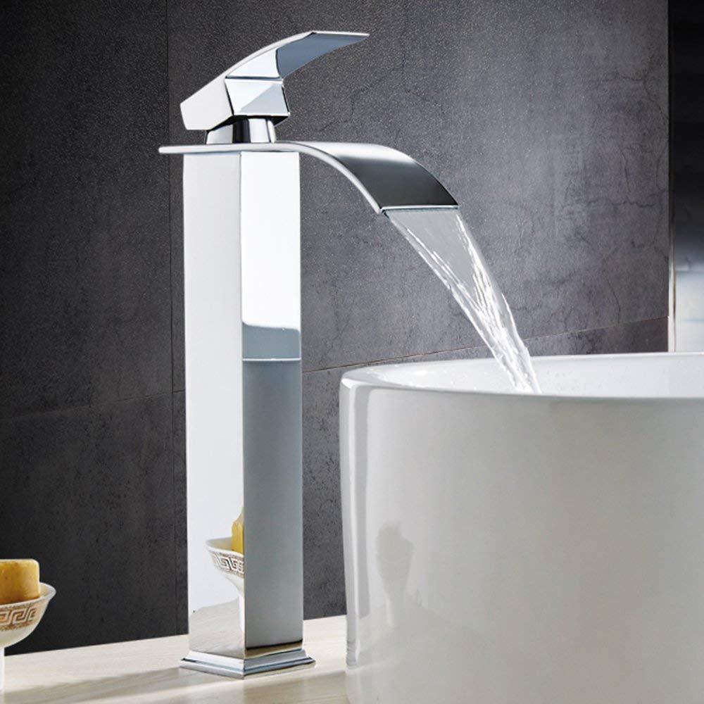 Jruia Elegant Hohe Waschtischarmatur Wasserfall Hoher Auslauf Bad