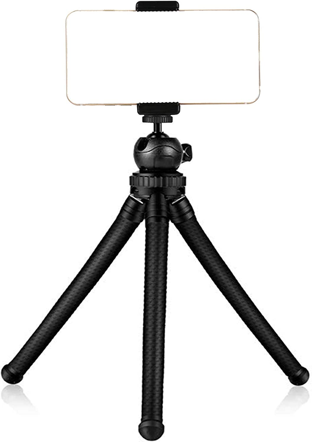 HOMEMO Phone Tripod Mount Stand Camera Holder Compatible with iPhone 11/11 Pro/11 Pro Max/X/Xs/XR Xs Max /8 7 7 Digtal Camera Galaxy s20 s20+ S20Ultra s10 Plus S9+ S8 S7 S7 Edge Camera and More Black