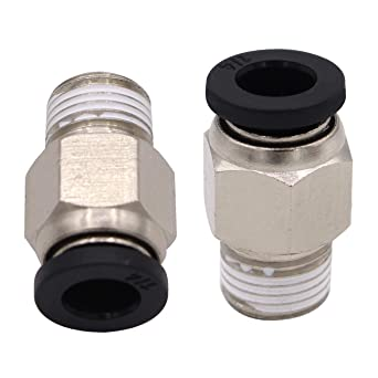 Male Elbow 1//4 Tube OD x 1//4 NPT Thread Plastic 5 Push to Connect Tube Fitting