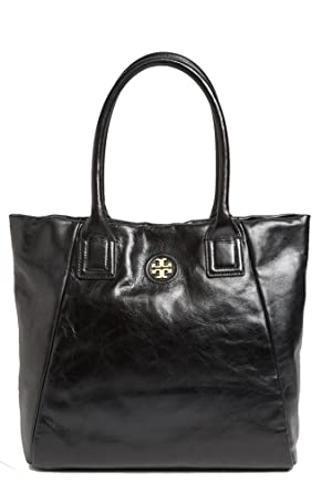 0a3f9328296b Image Unavailable. Image not available for. Color  Tory Burch City Tote  Large Glazed Leather Shopper
