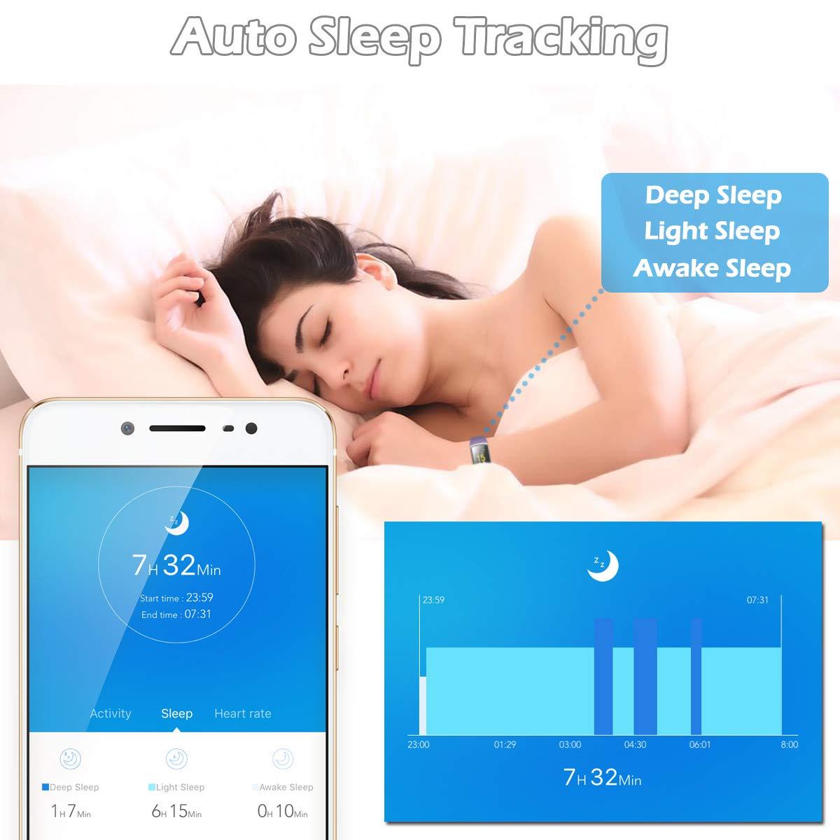 CHEREEKI Montre Connectée, Tracker d\'Activité Tension Artérielle Etanche IP68 Smartwatch Sport Écran Coloré avec Moniteur de Sommeil pour iPhone Huawei Samsung Xiaomi Sony (Violet)