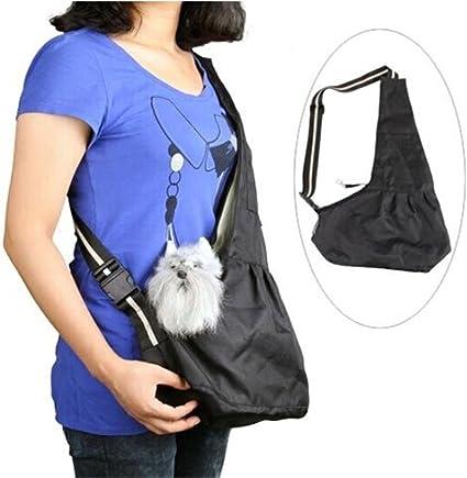 Pet Sling Carrier Hands-Free Sling Pet Dog Cat Carrier Bag Soft Comfortable Double-Sided Pouch Shoulder Carry Tote Handbag Blue S