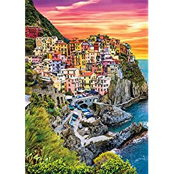 Buffalo Games - Earthpix Collection - Cinque Terre Sunset - 500 Piece Jigsaw Puzzle