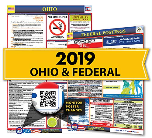 Osha4less Labor Law Poster - State and Federal, Ohio (OH-CB)