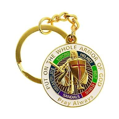 Amazon.com: Holy Armor Of God Pray - Llavero de cruz, color ...