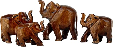 Elephant figurine Moms birthday gift from daughter and son Home decor Home decor in boho style