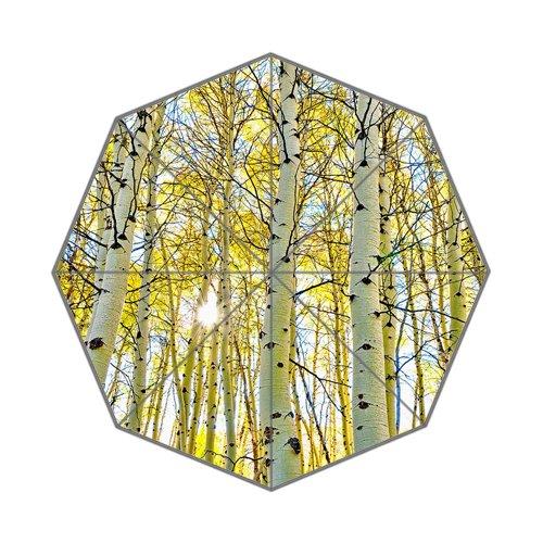 Aspen Forest Canopy木空をSteens Mountain inオレゴン州状態の東南部The Unique耐久性カスタム折りたたみ式傘 B072HG5RMP