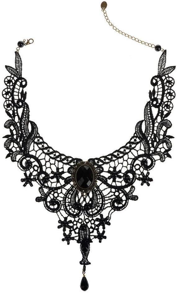VANKER linsung Mode Luxe Mujeres niñas Cristal Gema Perlas Encaje Collar del Cuello
