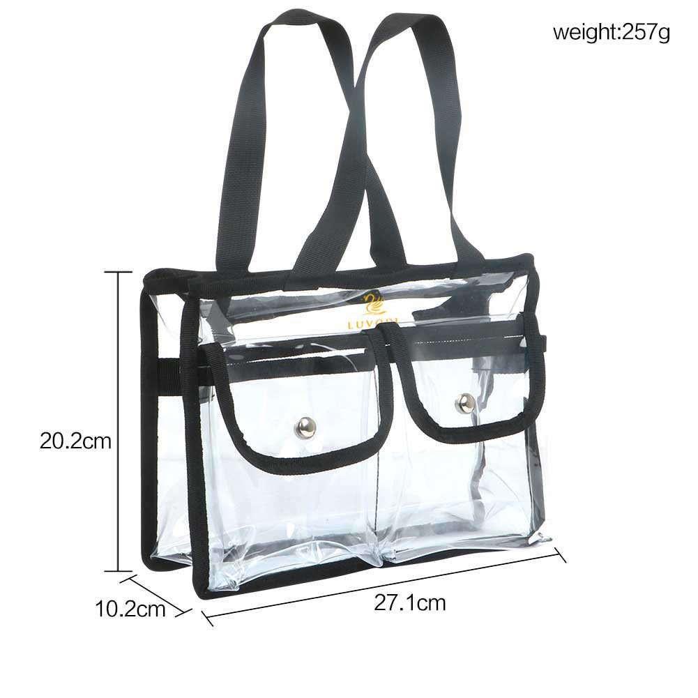 Clear Tote Bag for Cosmetic, PVC Bolsa Transparent with Removable and Adjustable Shoulder Strap