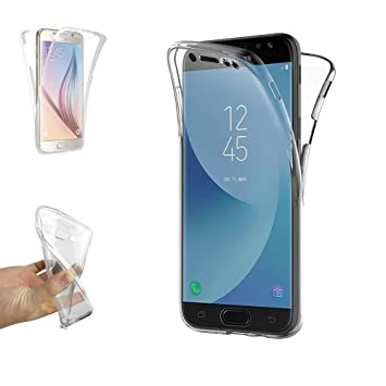 757ad635f7f Electrónica Rey Funda Carcasa Gel Transparente Doble 360º para Samsung  Galaxy J7 2017, Ultra Fina 0,33mm, Silicona TPU de Alta Resistencia y  Flexibilidad: ...