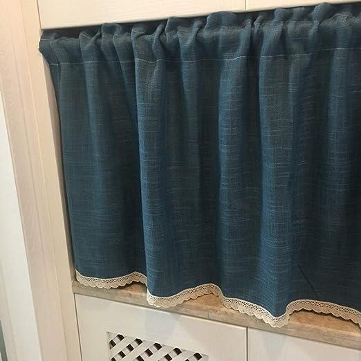 choicehot - Cortina de cocina de lino de algodón, 60 x 145 cm ...