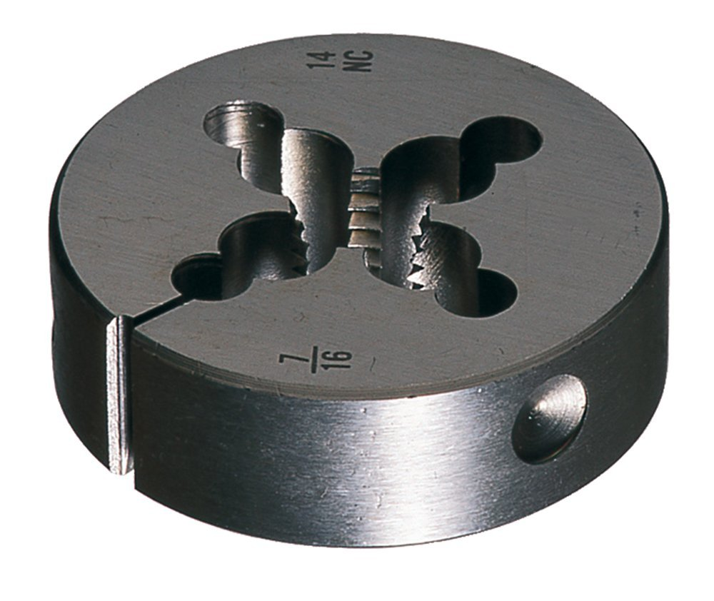 Cle-Line C65057 Carbon Steel Round Adjustable Die, 5-40 UNC
