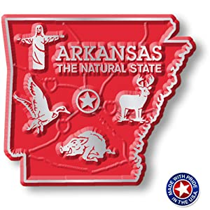 Arkansas State Map Magnet