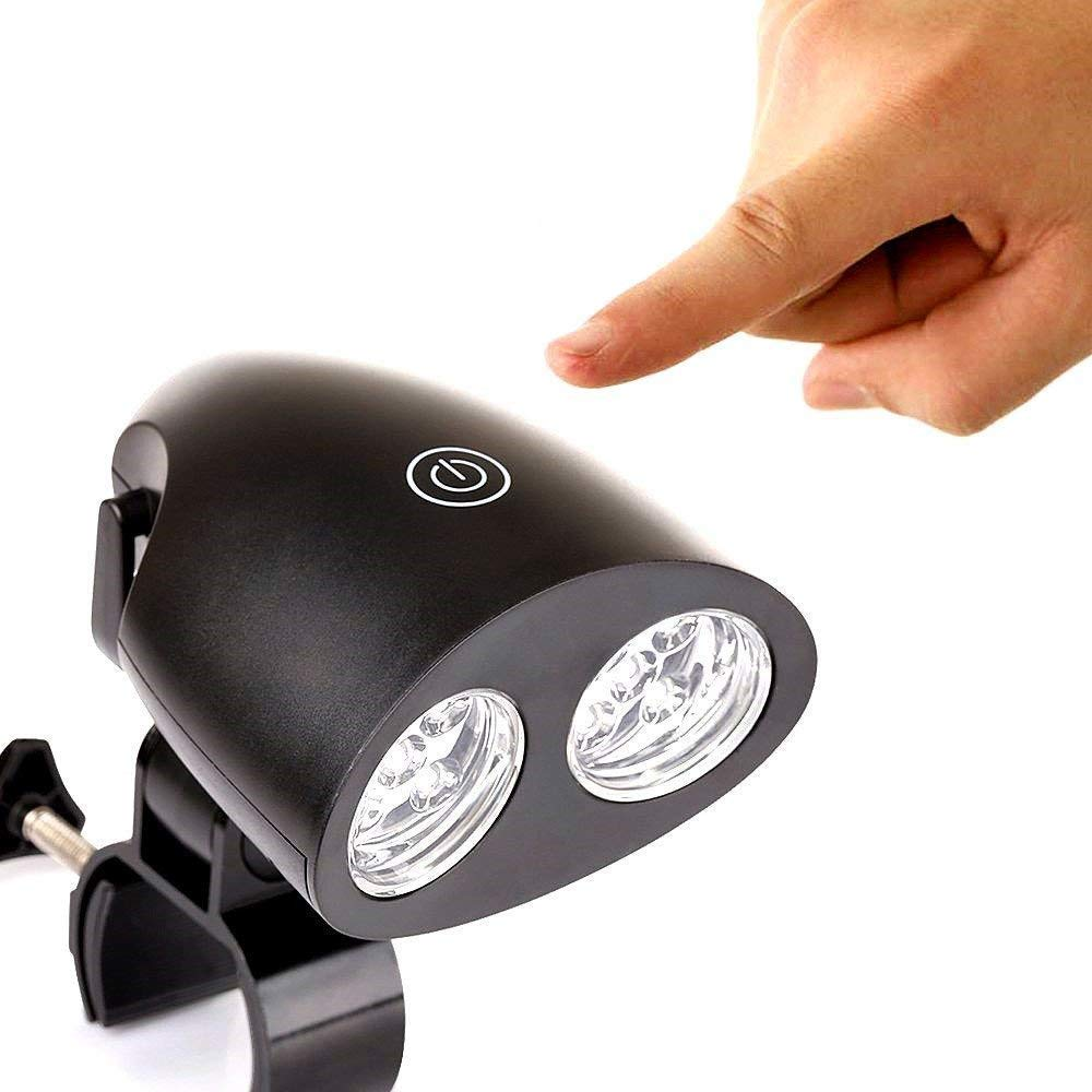 ZSZT Barbecue Grill Light, BBQ Grill Light Handle Bar Clamp 360 Degrees Rotation with Super Bright 10 LED Lights Sensitive Touch Control