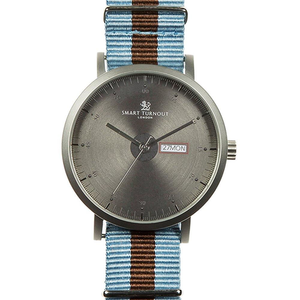 [スマートターンアウト] Smart Turnout 腕時計 ウォッチ ナイロンベルト マリン メンズ B014W3TZ4M